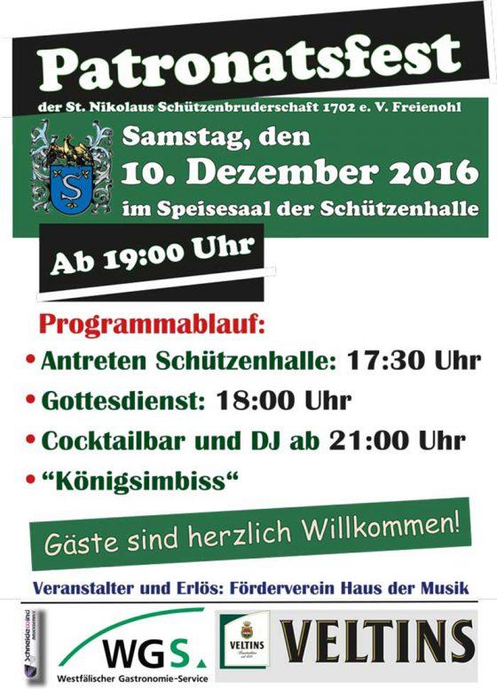 Patronatsfest für JEDERMANN am 10.12.2016