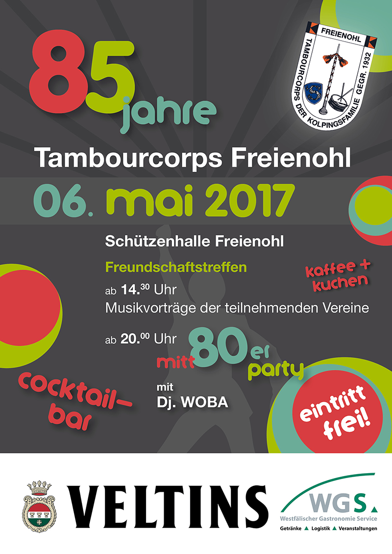 85 Jahre Tambourcorps Freienohl – Poster